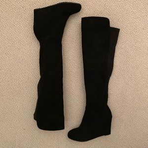 Chinese Laundry Over the Knee Wedge Boots